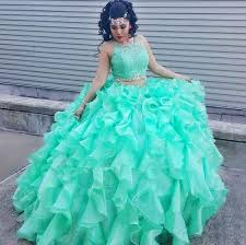 pictures of quinceanera dresses two pieces plus size quinceanera dresses mint green sheer crew neck
