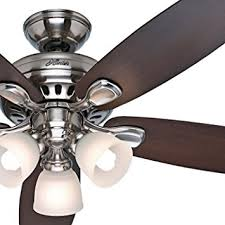 52 ceiling fan with light and remote control hunter fan 52 brushed nickel ceiling fan with light kit and remote
