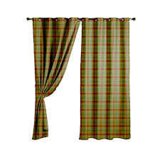 Plaid Curtain Material Green Check Curtain Fabric Uk Gopelling Net