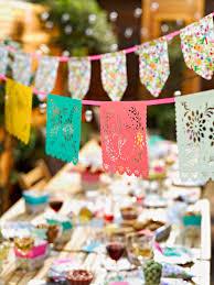 papel picado mexican fiesta bannerfloral fiesta birthday