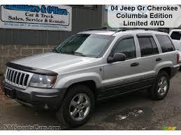 silver jeep grand cherokee 2004 jeep grand cherokee columbia edition 4x4 in bright silver