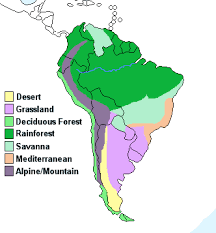 america climate zones map continent ofsouth on emaze