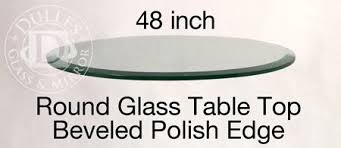 48 inch glass table top 48 inch round glass table top 1 2 thick beveled edge annealed