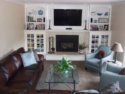 Tiled Fireplace Wall by Create An Accent Wall At The End Of A Long Narrow Family Room
