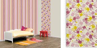 papier peint pour chambre fille papier peint du jour empreintes de mains
