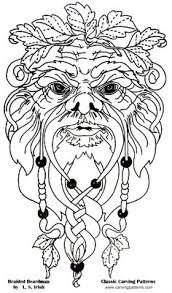 Simple Wood Burning Patterns Free by Greenman How To Draw The Green Man Green Man Step 7 Patterns