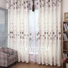 Brown Burlap Curtains Country Affordable Beige And Brown Flowers Floral Burlap Curtains