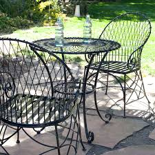 patio ideas black metal patio dining sets metal patio table and