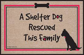 amazon com high cotton shelter dog doormat doormat funny