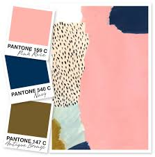 Pink Color Scheme Pink Navy And Bronze Color Palette Navy Color Inspiration And