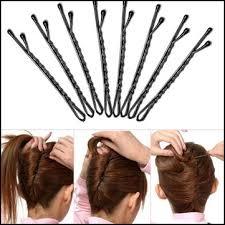 hair grips 50pcs metal black waved hair salon pins grips hairpins