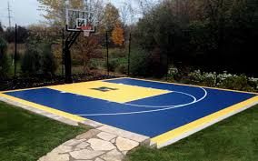 Backyard Basketball Court Fitting A Home Basketball Court In Your Backyard Sport Court With