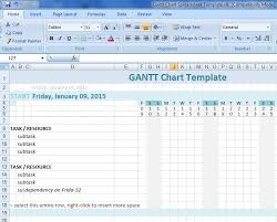 luxury gantt chart in word template calendar