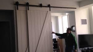 kitchen bypass barn door hardware cabinets furniture refinishing