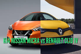 renault clio 2017 nissan micra vs renault clio differences in photo comparison