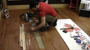 Replace Laminate Flooring Replacing A Hardwood Flooring Board Youtube