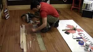 Chipped Laminate Flooring Replacing A Hardwood Flooring Board Youtube