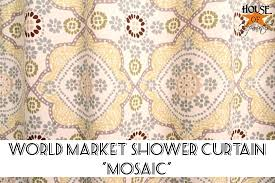 Curtains World Market Fourth Times A Charm Shower Curtains