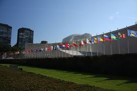 Picture Of Un Flag File Un General Assembly Bldg Flags Jpg Wikimedia Commons