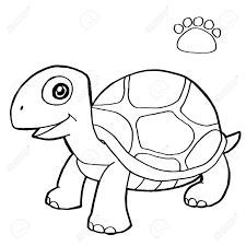 paw print with turtle coloring pages vector royalty free cliparts