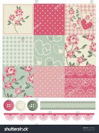 Shabby Chic Quilting Fabric by Shabby Chic Country Rose Vector Seamless Stock Vector 91071854