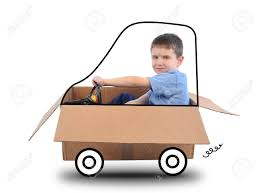 box car clipart a young boy is driving a box car with a wheels thar are drawn