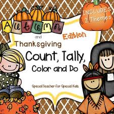 autumn thanksgiving color count tally do instant and