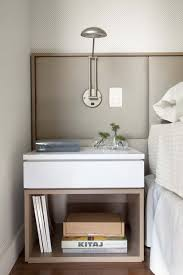 Bedside Table With Lamp Attached Headboards With Bedside Tables Attached 14551