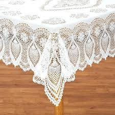 Vinyl Table Cloth Vinyl Lace Tablecloth View 1 48 Round Vinyl