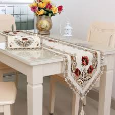 aliexpress com buy elegant polyester embroidery table runner