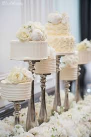 mini wedding cakes cake stands elevated wedding cakes bed of