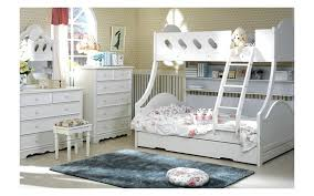 Cloudy Timber Trio Bunk Bed With Trundle - Timber bunk bed