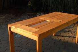 Diy Patio Table Diy Patio Table With Built In Wine Coolers The Owner