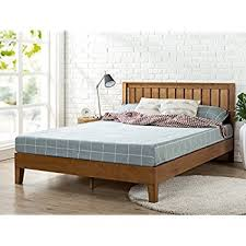 amazon com zinus 12 inch wood platform bed with headboard no