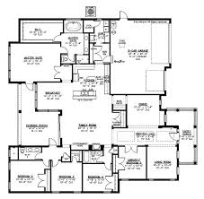 large family floor plans big family house plans floor plan u shaped 5 bedroom family home
