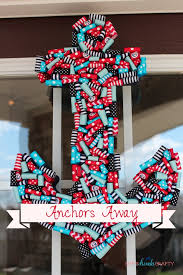 anchors away nautical ribbon anchor wreath shes kinda crafty