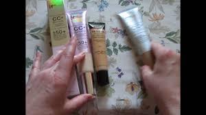 laura geller bb cream light it cc illumination laura geller bb cream comparison review youtube