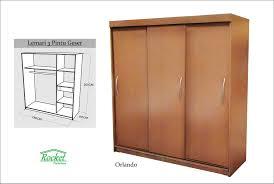 jual lemari pakaian sliding door 3 pintu hpl motif kayu coklat