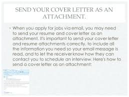 cover letter via email awesome cover letter when sending resume by email gallery simple