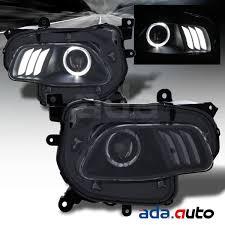 jeep black headlights 2014 2017 jeep cherokee led halo projector black headlights set