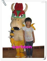 Bowser Halloween Costumes Super Mario Bros King Bowser Mascot Costume Child Size Womens