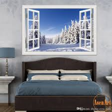 3d window view forest tree snow winter landscape wallpaper murals 3d window view forest tree snow winter landscape wallpaper murals vinyl wall stickers home decor 20x28 mural kid wall decals kid wall stickers from