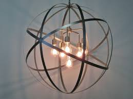Orb Chandeliers Home Decor Endearing Sphere Chandelier Metal Orb Chandelier With