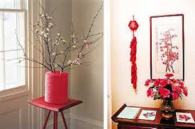 chinese new year decorations flower arrangements and paper crafts