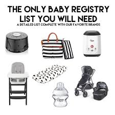 baby registries search must baby registry items