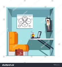 Big White Boards Private Video Conference Booth Room Chair Stock Vector 649493371