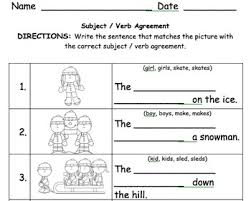 1st grade subject verb agreement 2 by krista lynch tpt