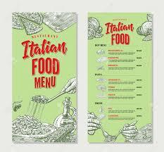 restaurants menu templates free italian menu template free dalarcon com vintage italian food restaurant menu template royalty free