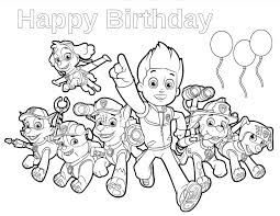 Happy Birthday Paw Patrol Coloring Page | paw patrol birthday paw patrol birthday paw patrol and happy birthday