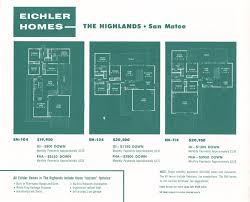floor plans for three eichler homes eichler homes pinterest